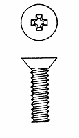 Phillips Flat Head Machine Screws - 82 Degree